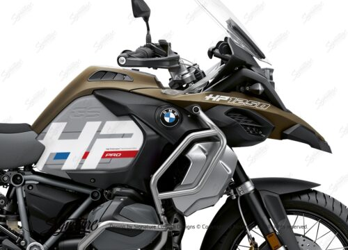 BKIT 3697 BMW R1250GS Adventure Style Exclusive HP Edition Side Tank Fender Stickers with Panniers 02