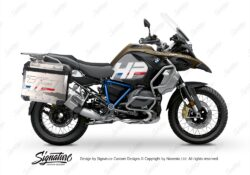 BKIT 3698 BMW R1250GS Adventure Style Exclusive HP Edition Side Tank Fender Stickers with Pyramid Frame Panniers Blue 01