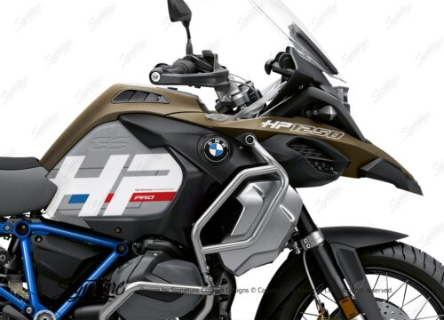 BKIT 3699 BMW R1250GS Adventure Style Exclusive HP Edition Side Tank Fender Stickers with Full Frame Panniers Blue 02