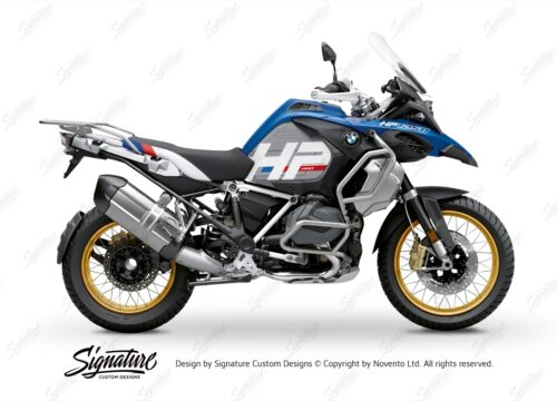 BKIT 3700 BMW R1250GS Adventure Style HP Silver Tank HP Edition Side Tank Fender Stickers 01
