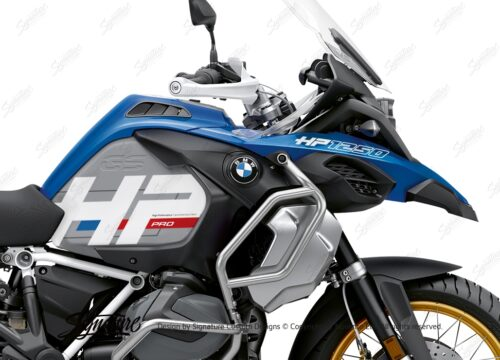 BKIT 3700 BMW R1250GS Adventure Style HP Silver Tank HP Edition Side Tank Fender Stickers 02