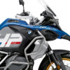 BKIT 3701 BMW R1250GS Adventure Style HP Silver Tank HP Edition Side Tank Fender Stickers with Subrame Blue 02