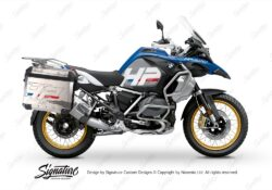 BKIT 3702 BMW R1250GS Adventure Style HP Silver Tank HP Edition Side Tank Fender Stickers with Panniers 01