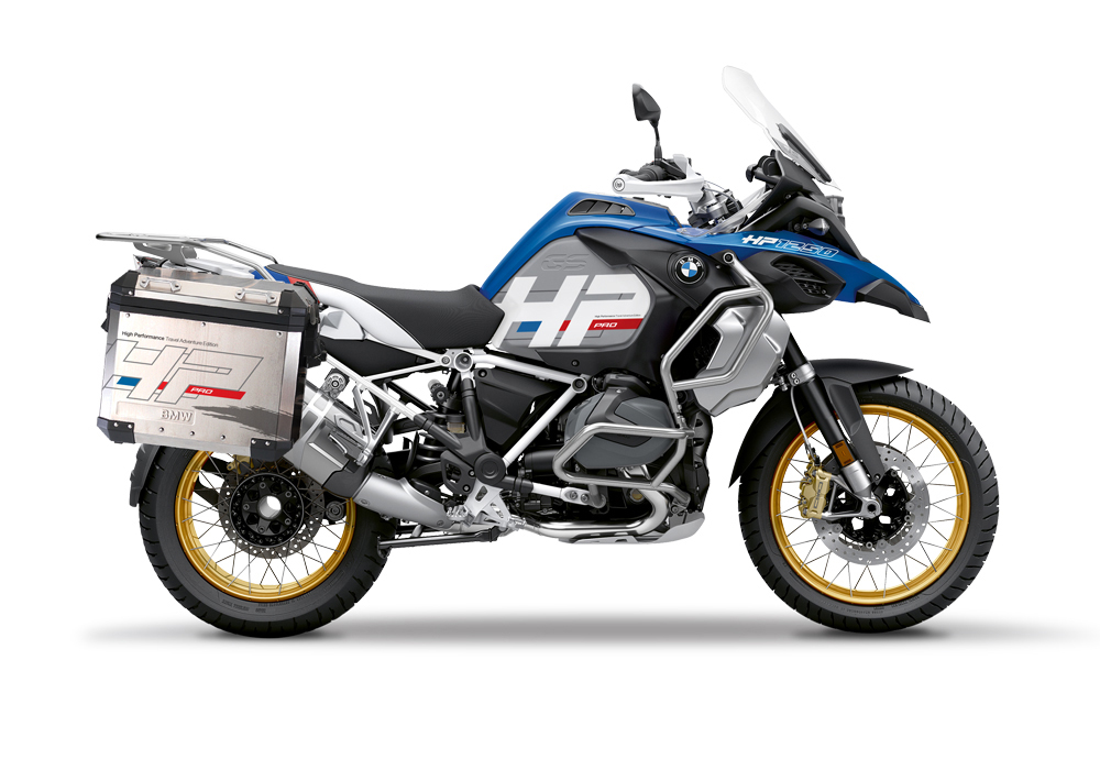 BKIT 3703 BMW R1250GS Adventure Style HP Silver Tank HP Edition Side Tank Fender Stickers with Subrame Panniers