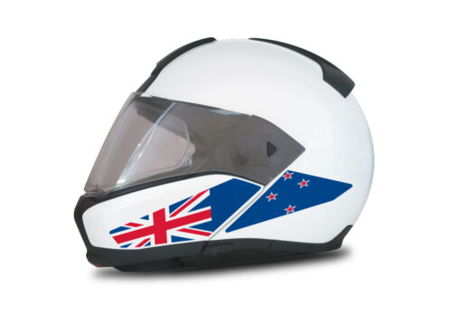 HEL 4008 BMW System 6 Helmet New Zealand Flag Stickers