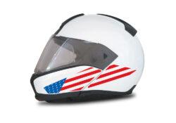 HEL 4010 BMW System 6 Helmet USA Flag Stickers