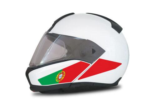 HEL 4011 BMW System 6 Helmet Portugal Flag Stickers