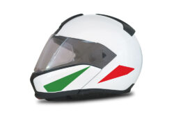 HEL 4013 BMW System 6 Helmet Italy Flag Stickers