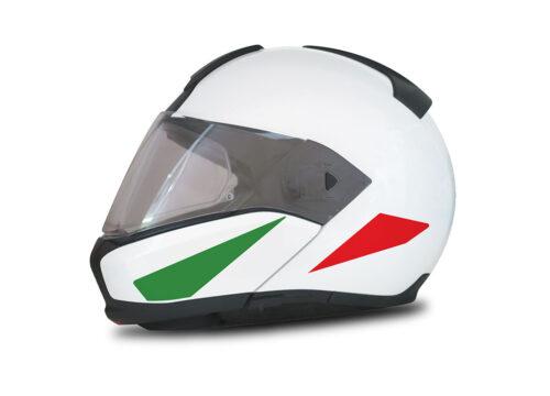 HEL 4013 BMW System 6 Helmet Italy Flag Stickers