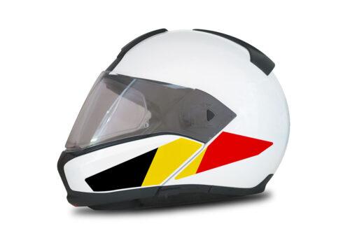 HEL 4016 BMW System 6 Helmet Belgium Flag Stickers