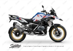 BKIT 3750 BMW R1250GS Style HP Dazzle Red Blue Stickers Kit 01