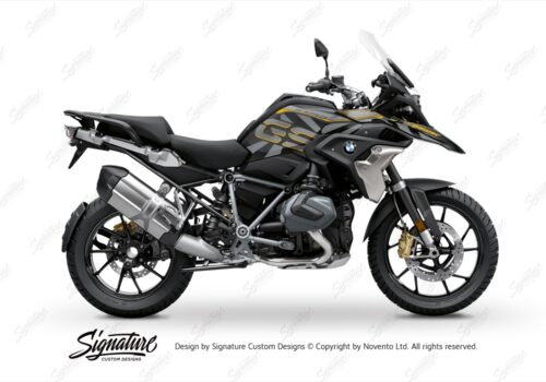 BKIT 3752 BMW R1250GS Style Exclusive Dazzle Gray Variations Stickers Kit 01