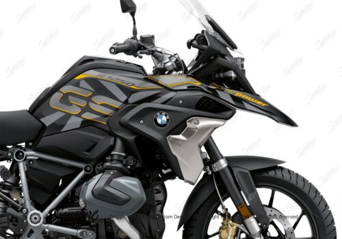 BKIT 3752 BMW R1250GS Style Exclusive Dazzle Gray Variations Stickers Kit 02