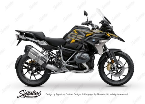 BKIT 3753 BMW R1250GS Style Exclusive Dazzle Yellow Gray Stickers Kit 01