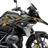 BKIT 3753 BMW R1250GS Style Exclusive Dazzle Yellow Gray Stickers Kit 02