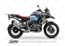 BKIT 3757 BMW R1250GS Adventure Style HP Spirit Lines V1 Red Blue Stickers Kit 01