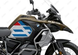 BKIT 3758 BMW R1250GS Adventure Style Exclusive Silver Tank Spirit Lines V1 Red Blue Stickers Kit 02
