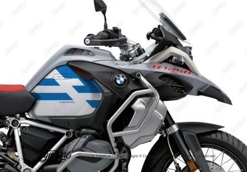 BKIT 3760 BMW R1250GS Adventure Ice Grey Spirit Lines V2 Blue Stickers Kit Cobalt Blue 02
