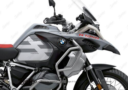 BKIT 3760 BMW R1250GS Adventure Ice Grey Spirit Lines V2 Blue Stickers Kit Grey Metallic Matte 02
