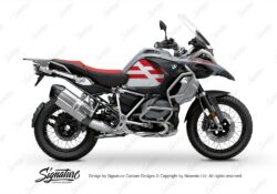 BKIT 3760 BMW R1250GS Adventure Ice Grey Spirit Lines V2 Blue Stickers Kit Red 01