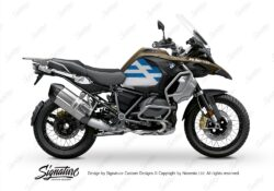 BKIT 3761 BMW R1250GS Adventure Style Exclusive Spirit Lines V2 Blue Stickers Kit 01