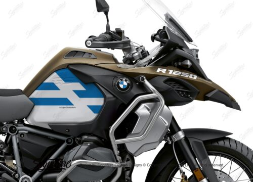 BKIT 3761 BMW R1250GS Adventure Style Exclusive Spirit Lines V2 Blue Stickers Kit 02