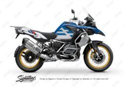 BKIT 3762 BMW R1250GS Adventure Style HP Spirit Lines V2 Blue Stickers Kit 01
