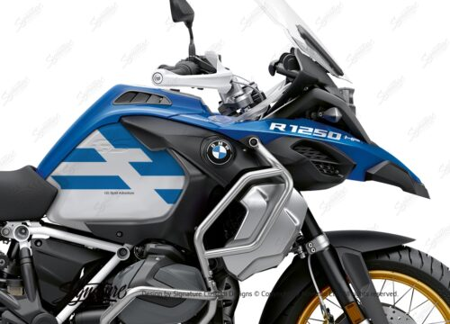 BKIT 3762 BMW R1250GS Adventure Style HP Spirit Lines V2 Blue Stickers Kit 02