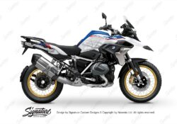 BKIT 3772 BMW R1250GS Style HP Compass V1 Grey Side Tank Stickers Kit 01