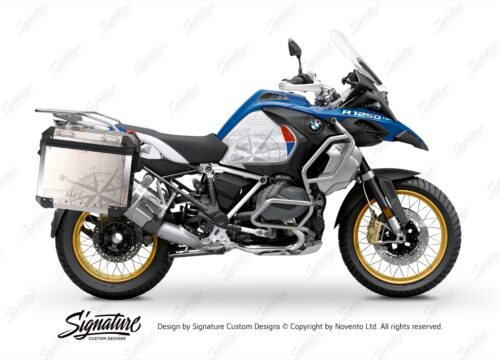BKIT 3776 BMW Alluminium Panniers Compass Stickers Kit with Protective Films 01