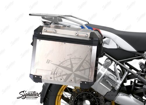 BKIT 3776 BMW Alluminium Panniers Compass Stickers Kit with Protective Films 02