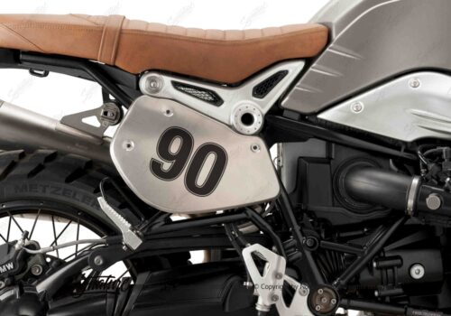 BPRF 3726 Puig BMW RnineT Alluminium Side Covers 90 Number Sticker Kit 01