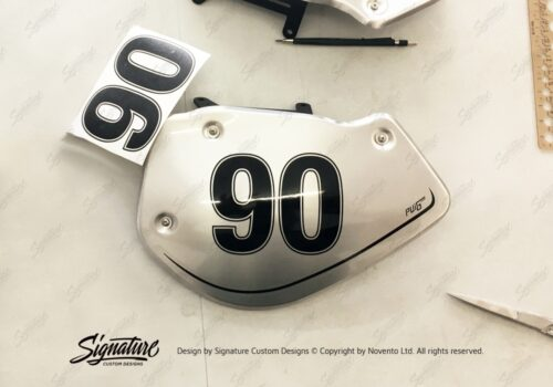 BPRF 3726 Puig BMW RnineT Alluminium Side Covers 90 Number Sticker Kit 05
