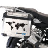 BSTI 1008 BMW GS Alluminium Panniers The World R1200GS Stickers Cobalt Blue 02