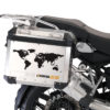 BSTI 1008 BMW GS Alluminium Panniers The World R1200GS Stickers Saffron Yellow 02