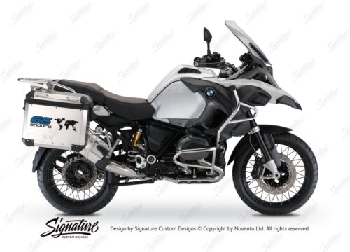 BSTI 1015 BMW GS Alluminium Panniers The World GS Enduro Stickers Cobalt Blue 01