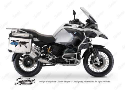 BSTI 1089 BMW GS Alluminium Panniers The World GS R1200 Stickers Cobalt Blue 01