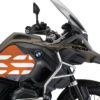 BSTI 3768 BMW R1200GS LC Adventure Olive Matte Side Tank Wrap with GS Lines Stickers Orange 02