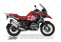 BSTI 3769 BMW R1200GS LC Adventure Racing Red Side Tank Wrap with GS Lines Stickers Red 01