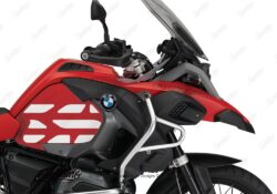BSTI 3769 BMW R1200GS LC Adventure Racing Red Side Tank Wrap with GS Lines Stickers Red 02