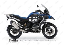 BSTI 3770 BMW R1200GS LC Adventure Racing Blue Side Tank Wrap with GS Lines Stickers Black 01