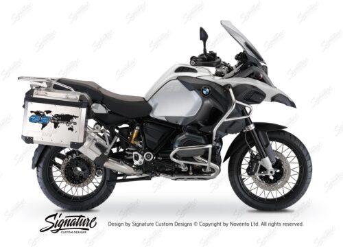 BSTI 3778 BMW GS Alluminium Panniers The World GS Adventure Stickers Cobalt Blue 01