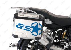 BSTI 3779 BMW GS Alluminium Panniers GS Star Stickers Cobalt Blue 02