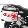 BSTI 3779 BMW GS Alluminium Panniers GS Star Stickers Red 02