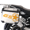 BSTI 3779 BMW GS Alluminium Panniers GS Star Stickers Saffron Yellow 02