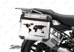 BSTI 3780 BMW GS Alluminium Panniers The World R1250GS Stickers Cobalt Blue 02