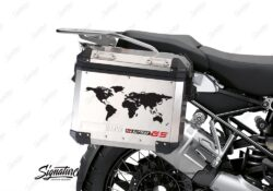 BSTI 3780 BMW GS Alluminium Panniers The World R1250GS Stickers Red 02