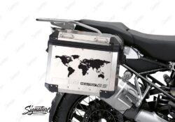 BSTI 3780 BMW GS Alluminium Panniers The World R1250GS Stickers Silver 02