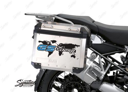 BSTI 3781 BMW GS Alluminium Panniers The World GS R1250 Stickers Blue 02