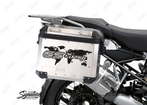 BSTI 3781 BMW GS Alluminium Panniers The World GS R1250 Stickers Silver 02